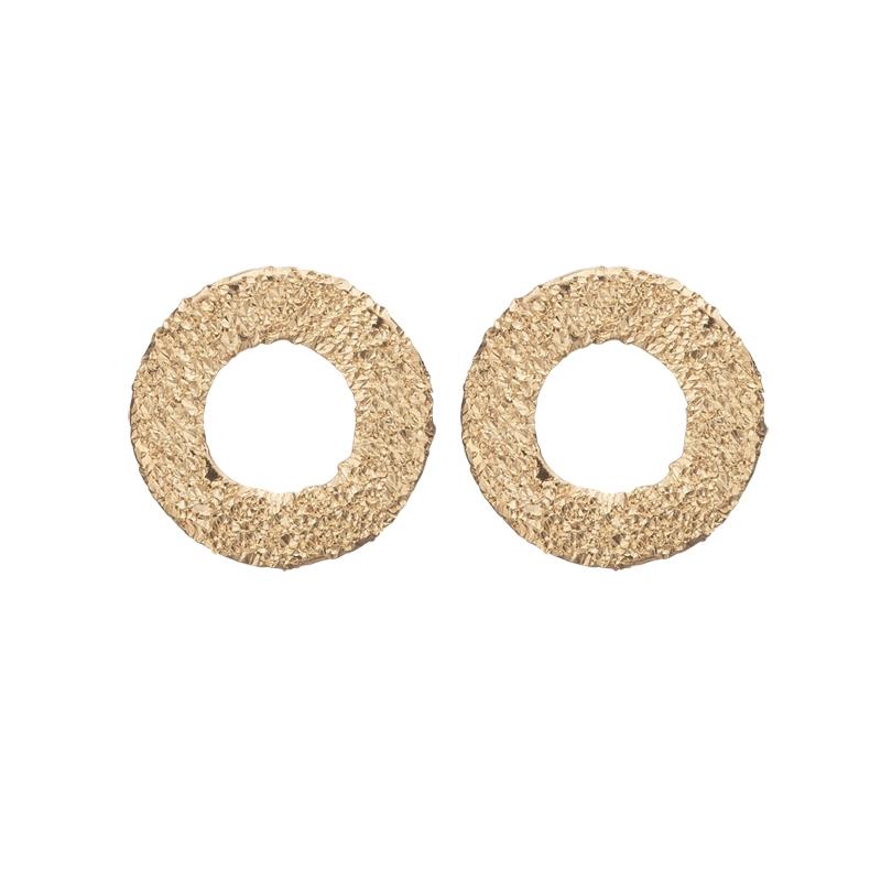 Image of   Christina Jewelry sparkling circles ørestikker i forgyldt