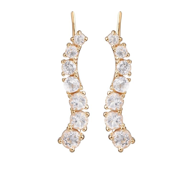 Image of   Christina Jewelry Crawler Curving Crystal i forgyldt