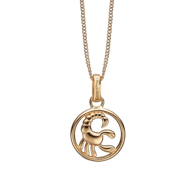 Image of   Christina Jewelry forgyldt stjernetegn skorpionen vedhæng