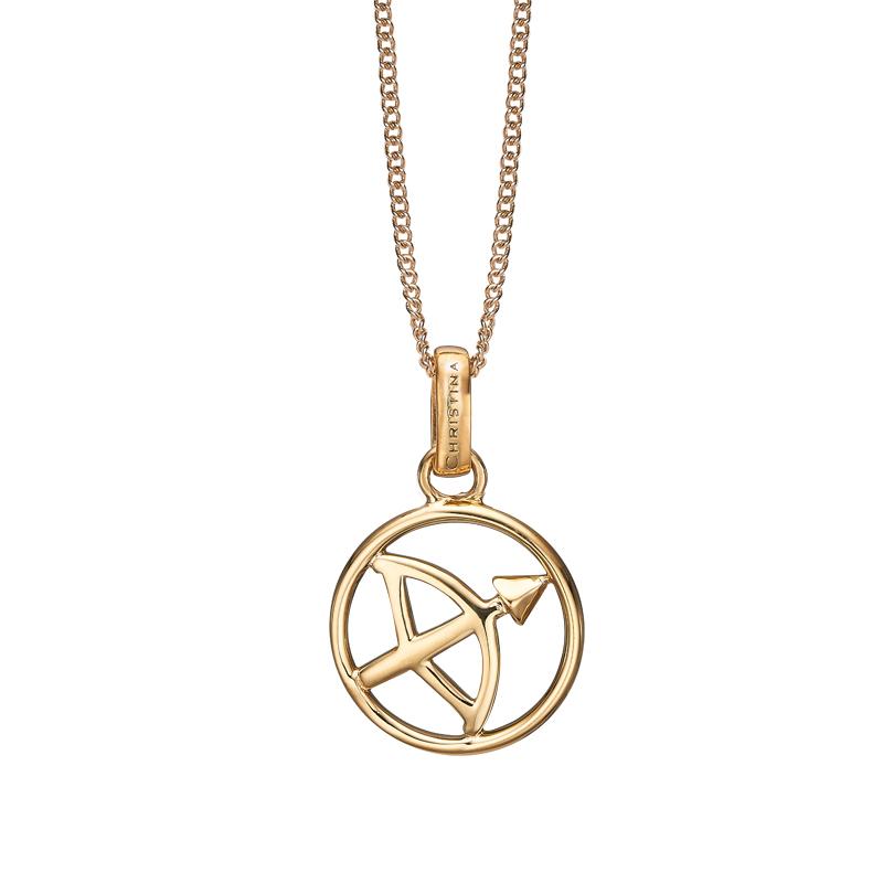 Christina Jewelry forgyldt stjernetegn skytten vedhæng
