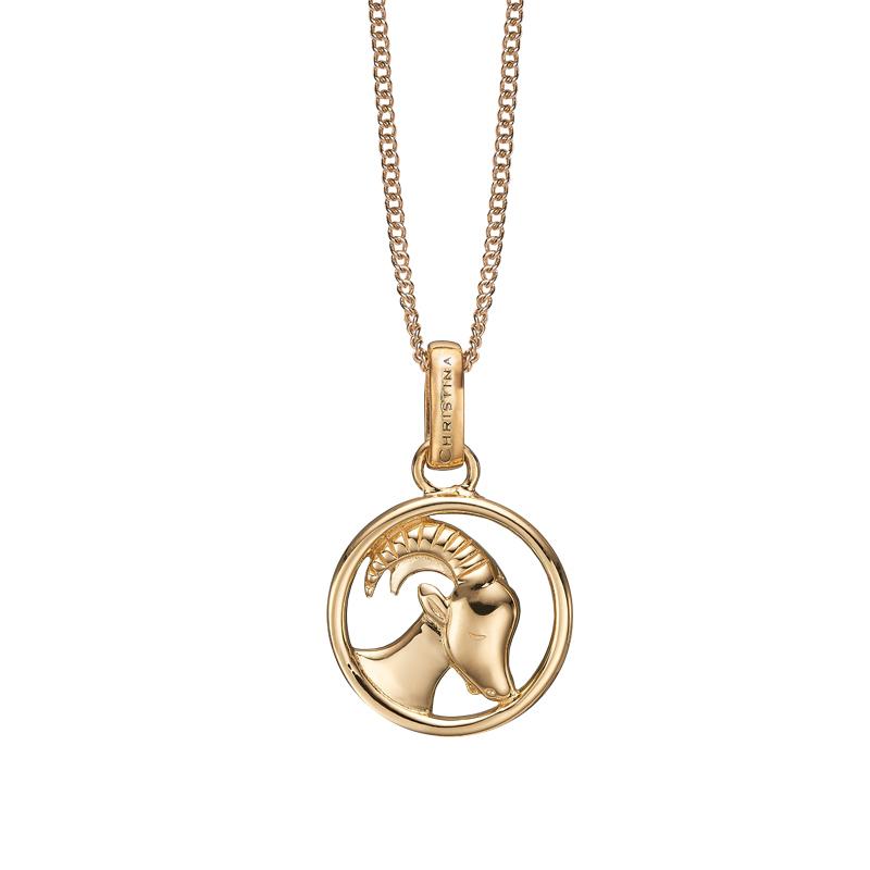 Image of   Christina Jewelry forgyldt stjernetegn stenbukken vedhæng