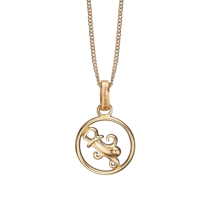 Image of   Christina Jewelry forgyldt stjernetegn vandmanden vedhæng