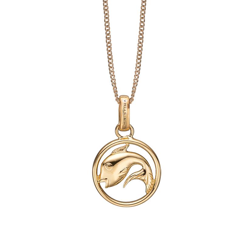 Image of   Christina Jewelry forgyldt stjernetegn fisken vedhæng