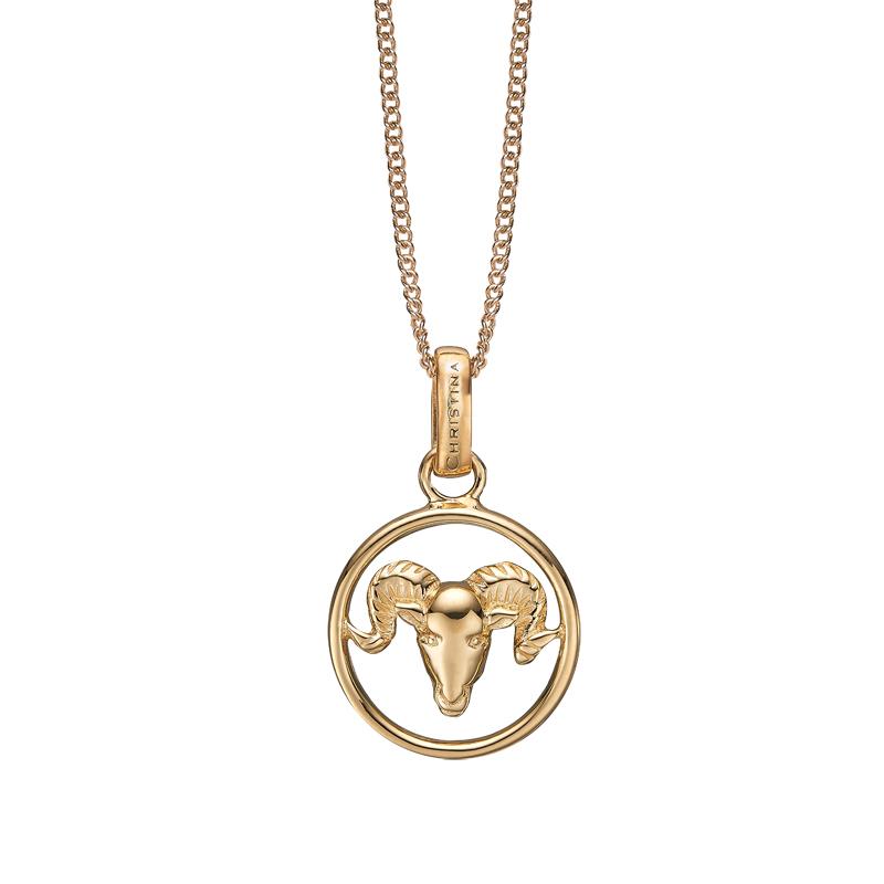 Image of   Christina Jewelry forgyldt stjernetegn vædderen vedhæng