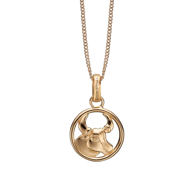 Image of   Christina Jewelry forgyldt stjernetegn tyren vedhæng