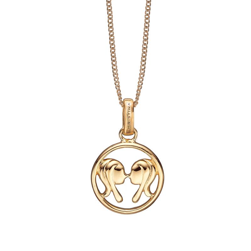 Image of   Christina Jewelry forgyldt stjernetegn tvillingen vedhæng