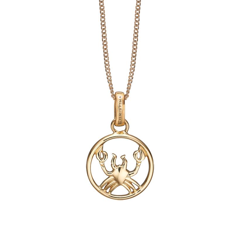 Image of   Christina Jewelry forgyldt stjernetegn krebsen vedhæng