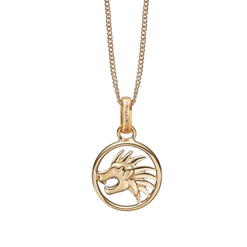 Image of   Christina Jewelry forgyldt stjernetegn løven vedhæng