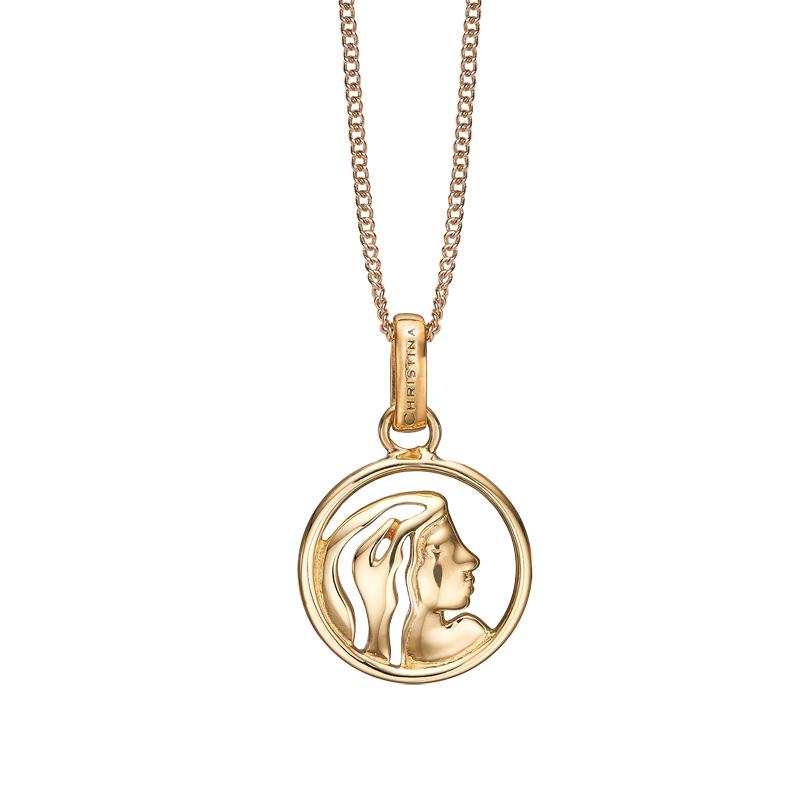 Image of   Christina Jewelry forgyldt stjernetegn jomfruen vedhæng