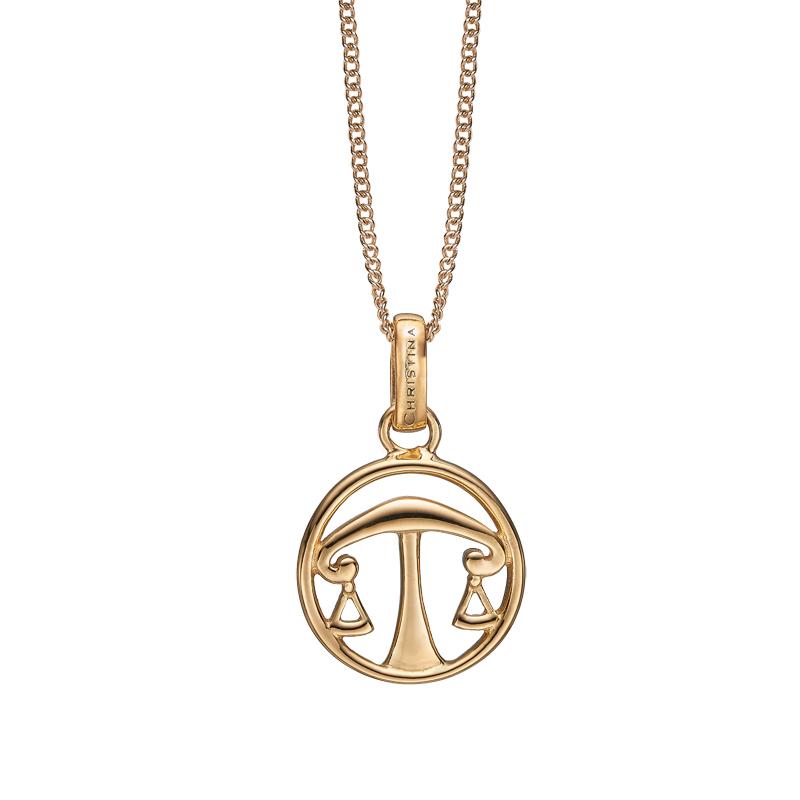 Image of   Christina Jewelry forgyldt stjernetegn vægten vedhæng