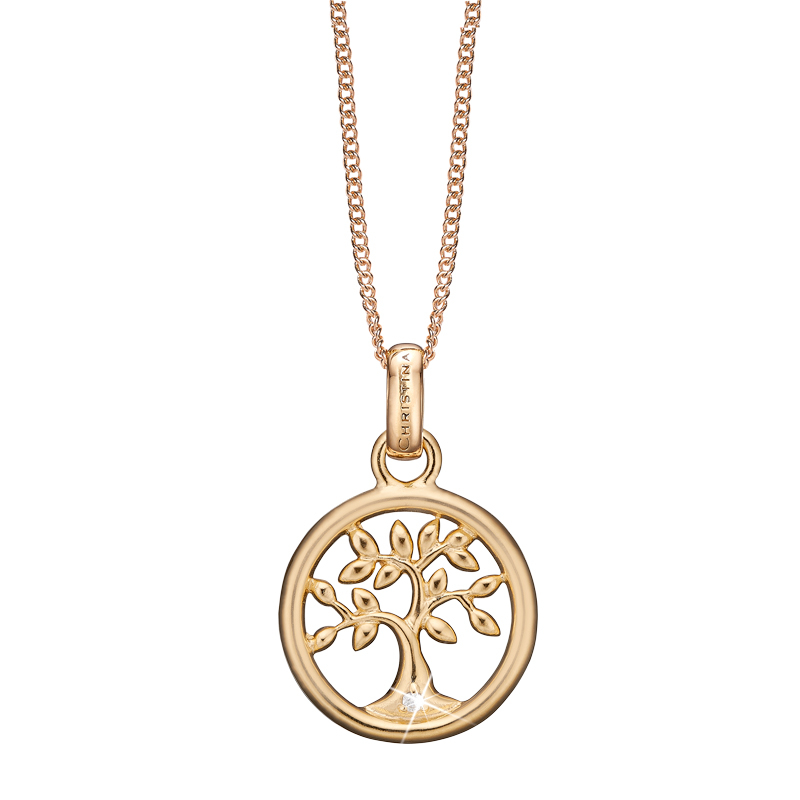 Image of   Christina Jewelry Tree og Life vedhæng i forgyldt