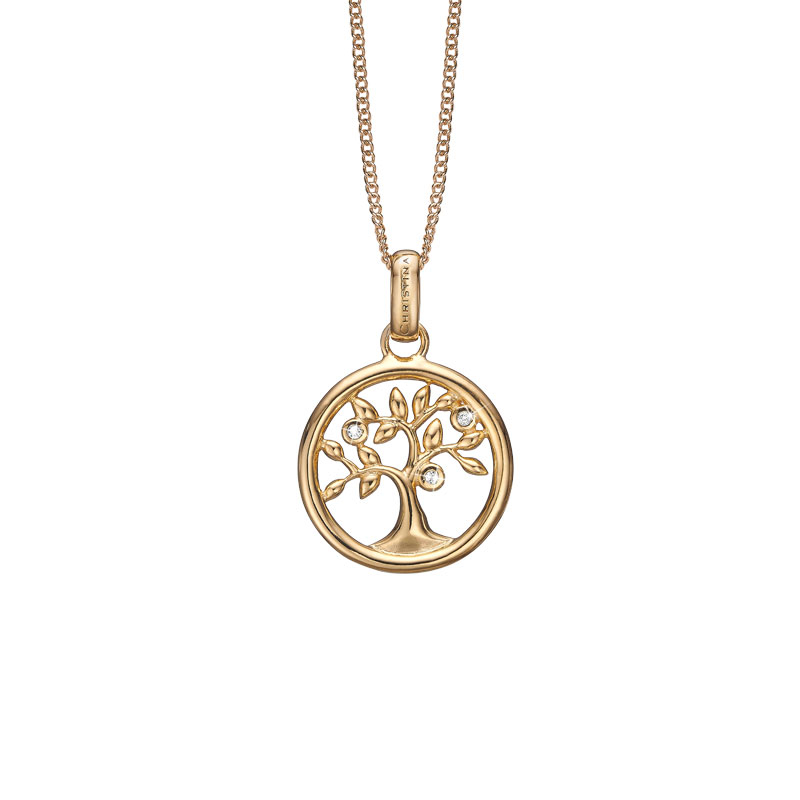 Image of   Christina Jewelry Tree of Life vedhæng i forgyldt med 3 topaser
