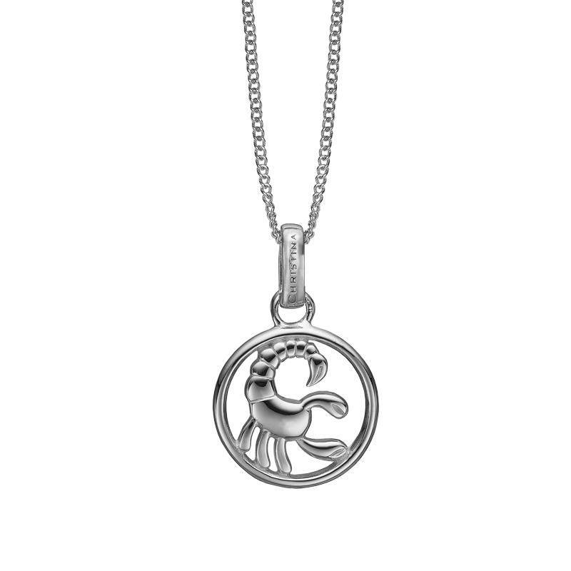 Christina Jewelry sølv stjernetegn skorpionen vedhæng