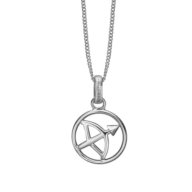 Image of   Christina Jewelry sølv stjernetegn skytten vedhæng