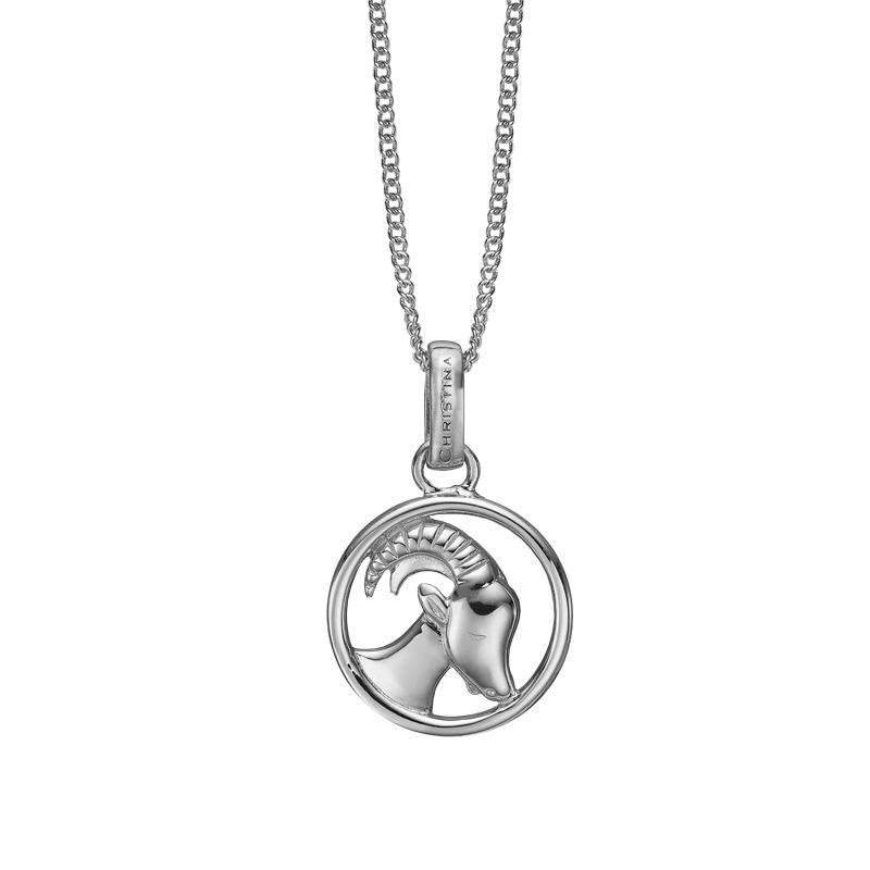 Image of   Christina Jewelry sølv stjernetegn stenbukken vedhæng