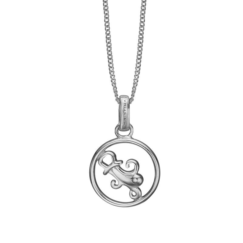 Image of   Christina Jewelry sølv stjernetegn vandmanden vedhæng