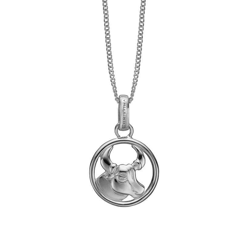 Image of   Christina Jewelry sølv stjernetegn tyren vedhæng