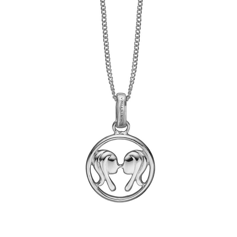 Image of   Christina Jewelry sølv stjernetegn tvillingen vedhæng