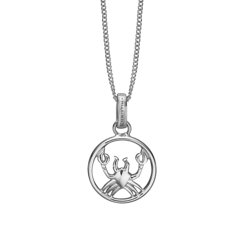 Image of   Christina Jewelry sølv stjernetegn krebsen vedhæng