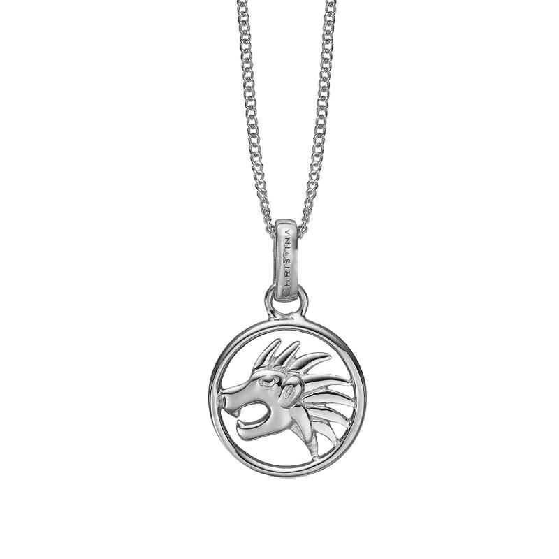 Image of   Christina Jewelry sølv stjernetegn løven vedhæng