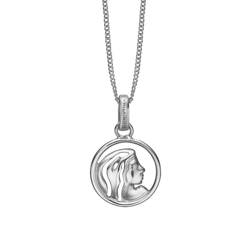 Christina Jewelry sølv stjernetegn jomfruen vedhæng