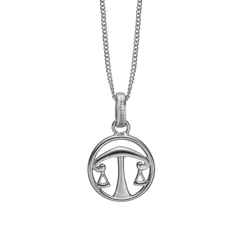 Image of   Christina Jewelry sølv stjernetegn vægten vedhæng