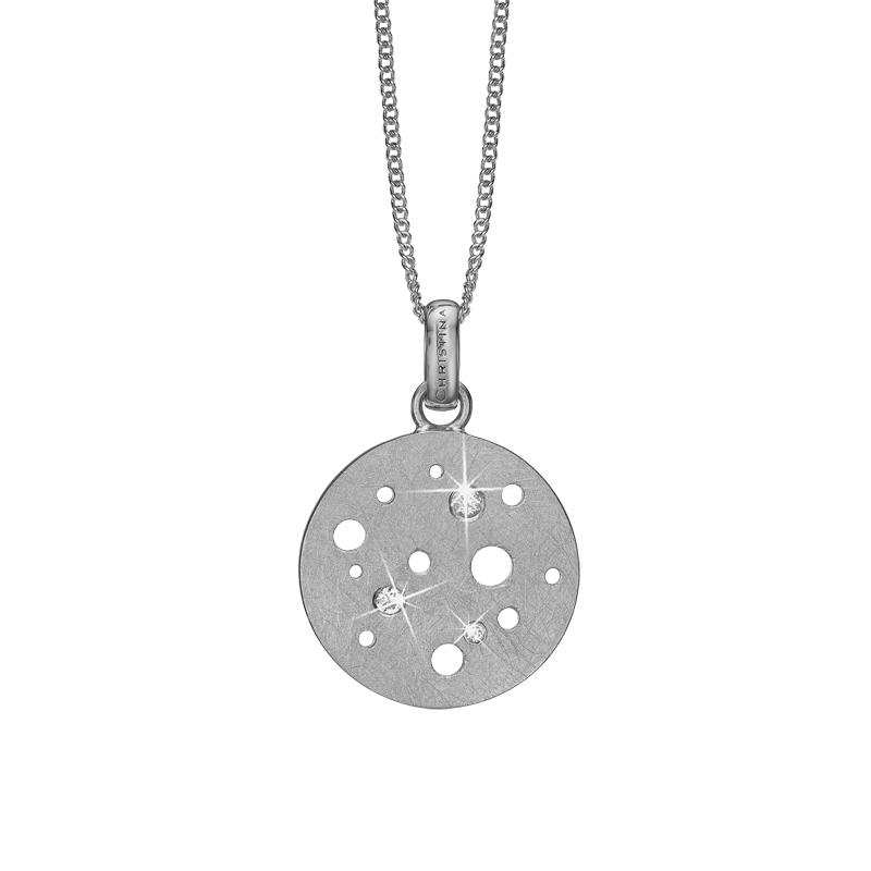 Image of   Christina vedhæng Topaz Moon i sølv med topas