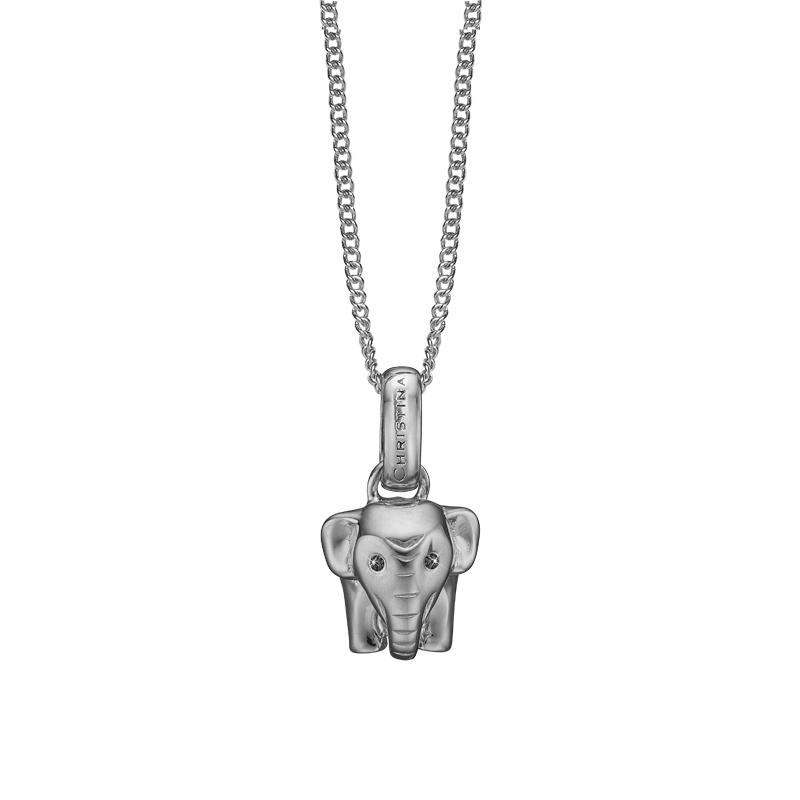 Image of   Christina vedhæng Lucky Elephant i sølv