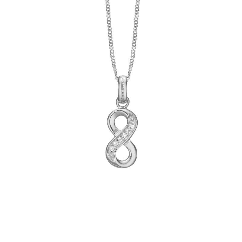 Image of   CHRISTINA vedhæng Eternity i sølv med 6 topaser