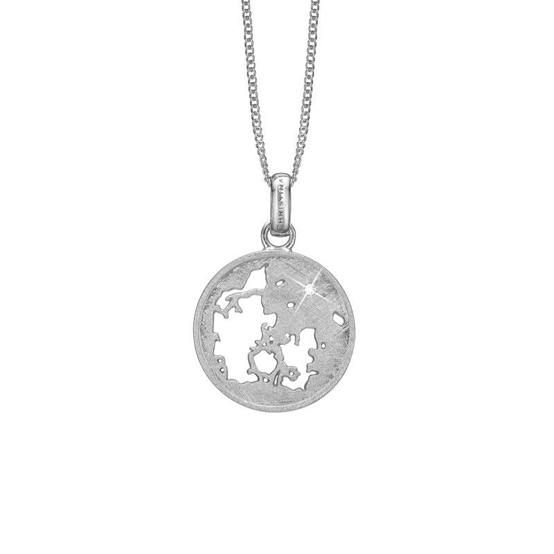 Image of   CHRISTINA vedhæng Denmark i sølv med 1 topas
