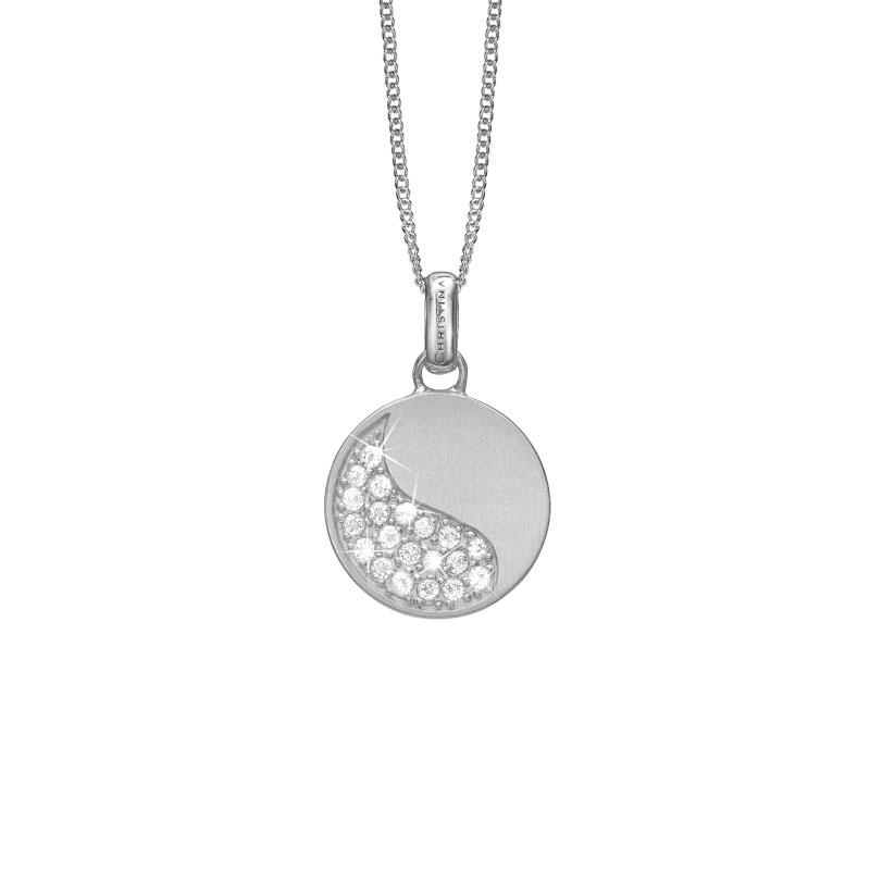 CHRISTINA vedhæng Moon Shine i sølv med 20 topaser