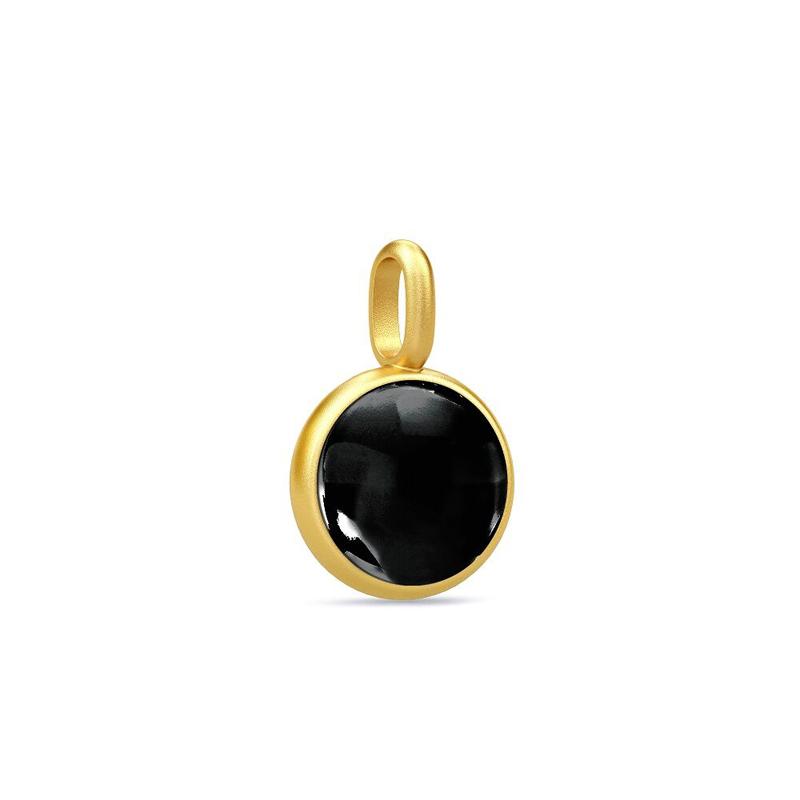 Image of   Julie Sandlau Prime vedhæng, forgyldt med sort krystal