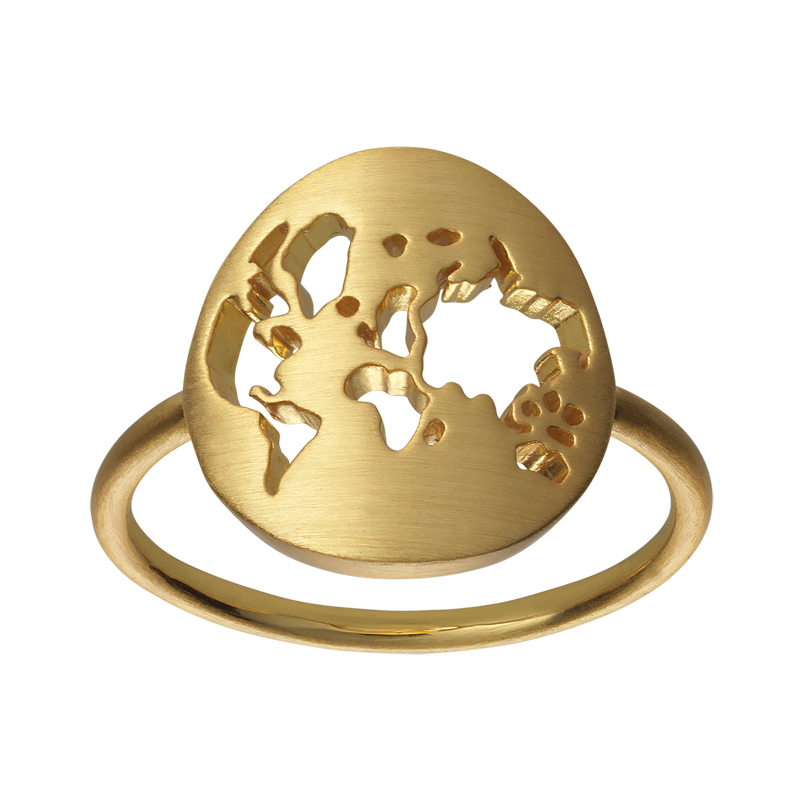 Image of   ByBiehl Beautiful World ring forgyldt