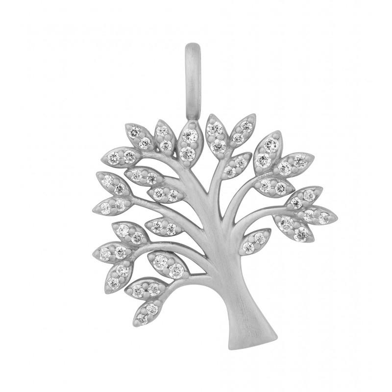 Image of   ByBiehl Tree of Life vedhæng i sølv med CZ