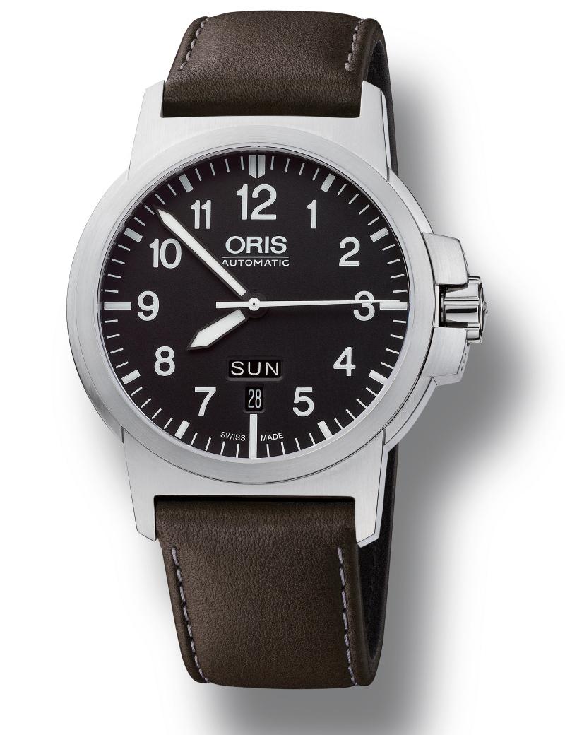 Image of   ORIS BC 3 ADVANCED, DAY DATE automatik armbåndsur med sort skive og sort læderrem