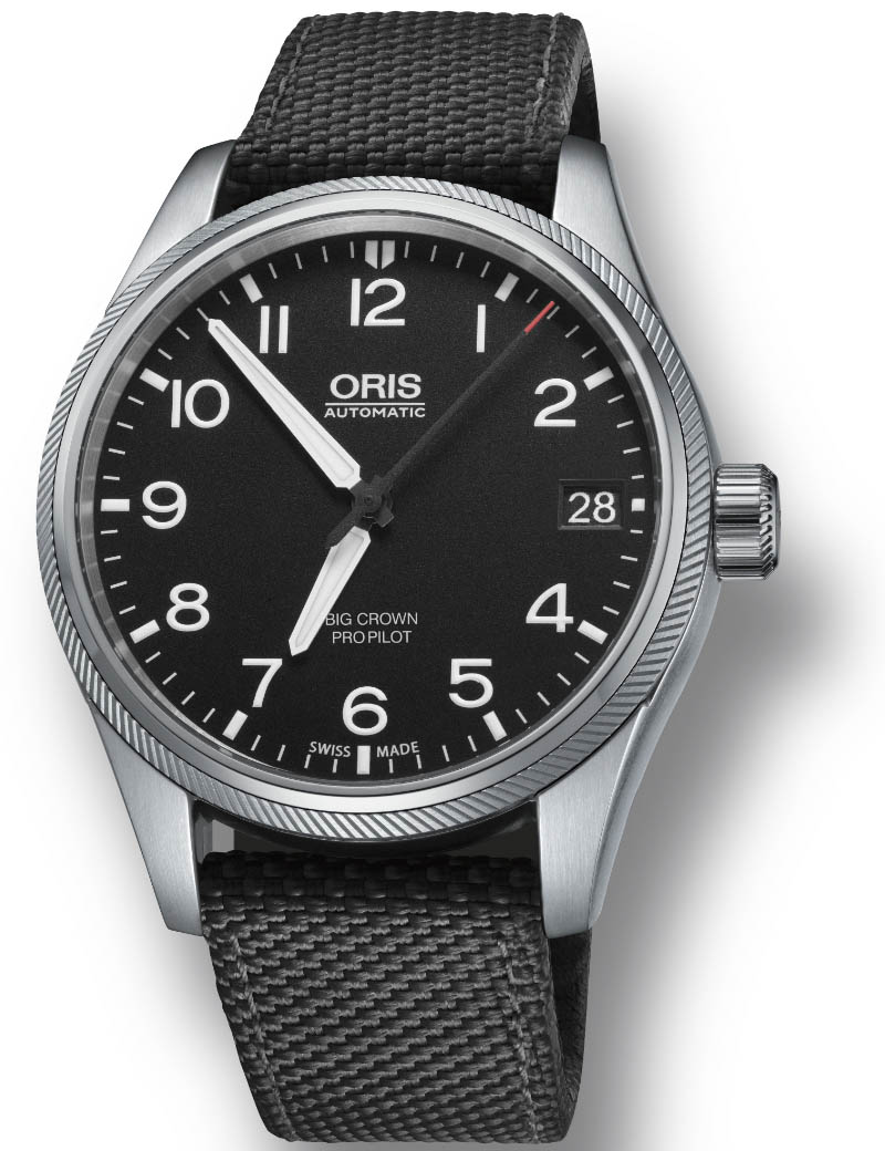 Image of   ORIS BIG CROWN PROPILOT BIG DATE automatik armbåndsur med sort skive og sort rem