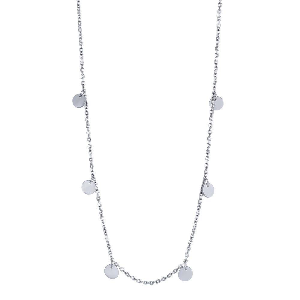 Image of   Nordahl Disc halskæde i sølv