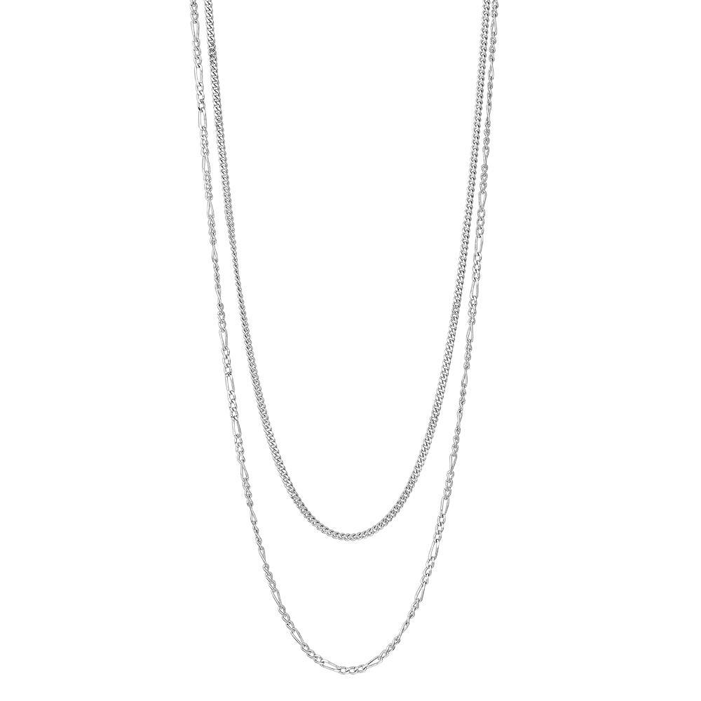 Image of   Nordahl Figaro dobbelt halskæde i sølv