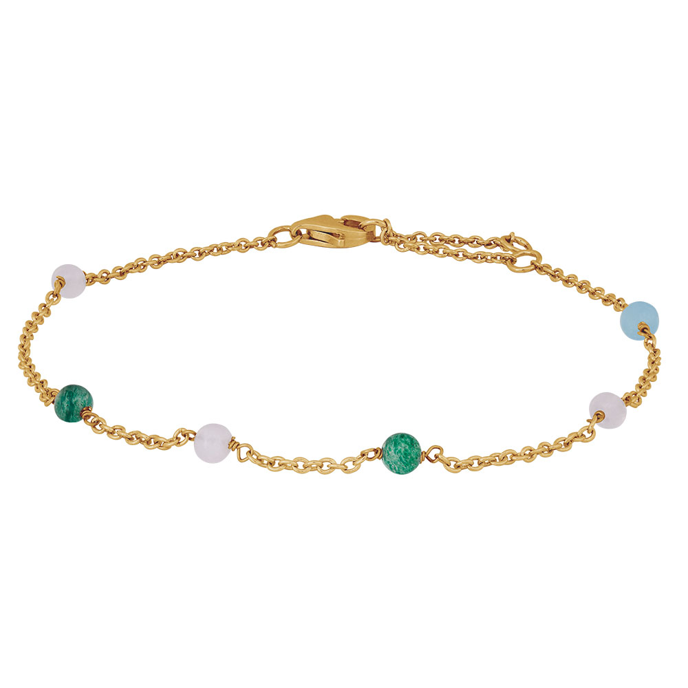 Nordahl Jewellery Sweets armbånd i forgyldt med farvede sten thumbnail