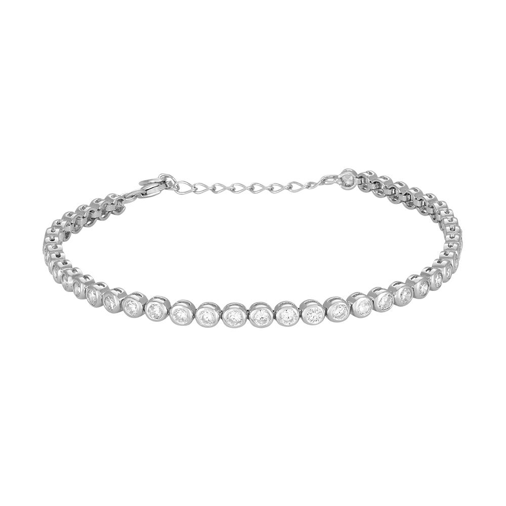 Joanli EMMYNOR tennisarmbånd i sølv med cz