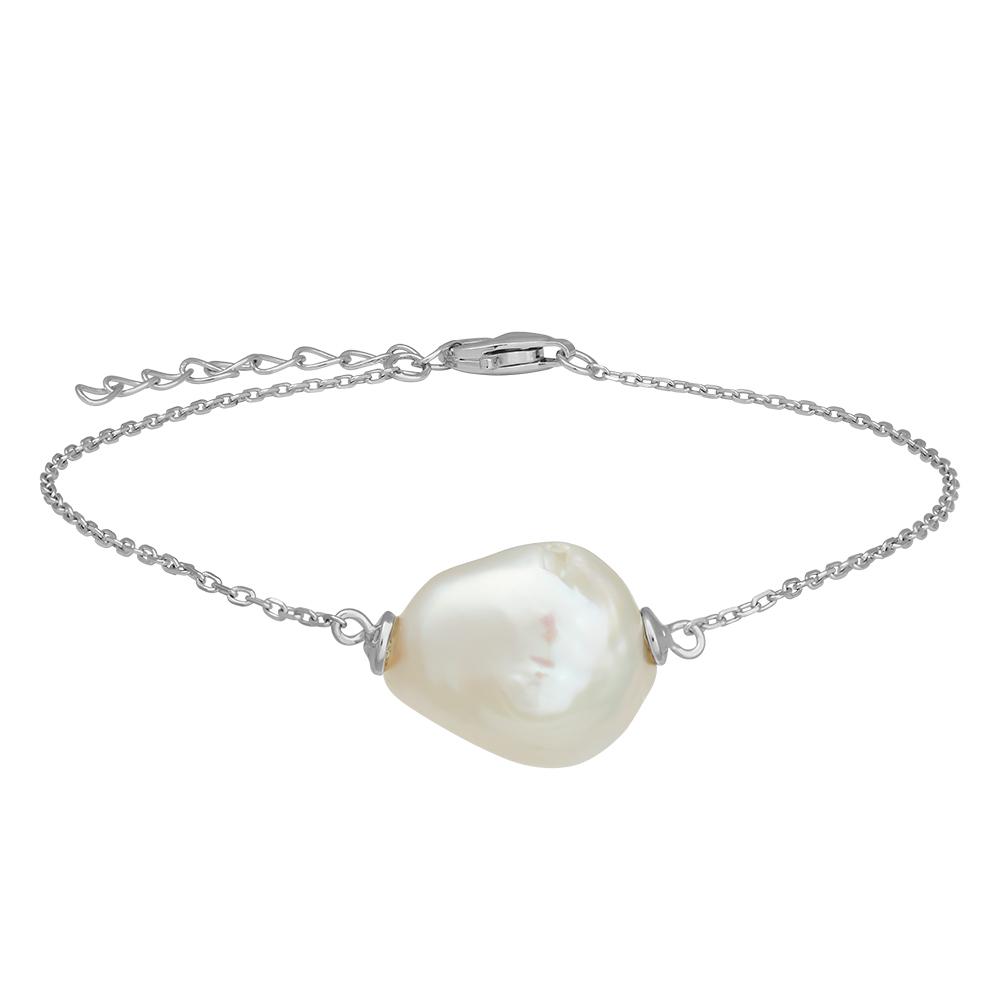 Nordahl Baroqur armbånd i sølv med perle