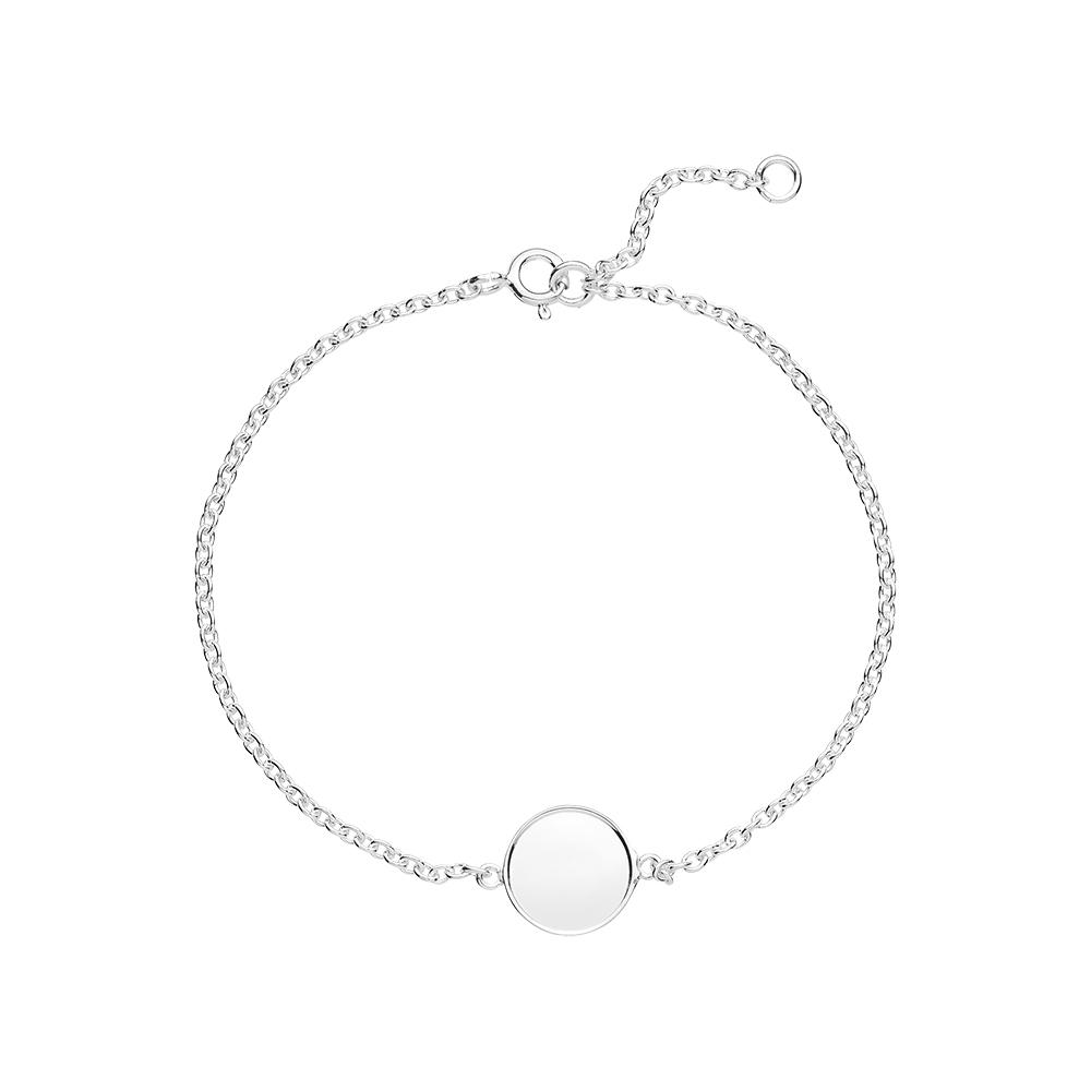 Image of   LUND armbånd i sølv med plade