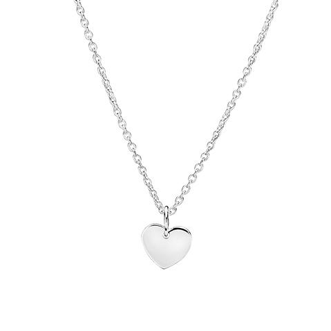 LUND halskæde i sølv med hjerte vedhæng