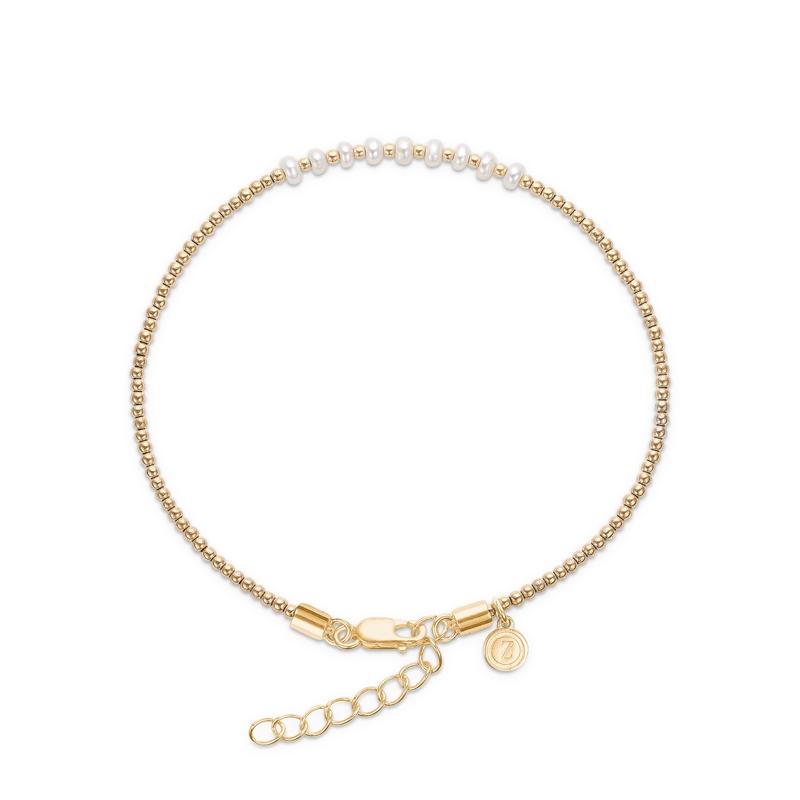 Mads Z Saint Tropez armbånd i forgyldt med perler og hæmatit