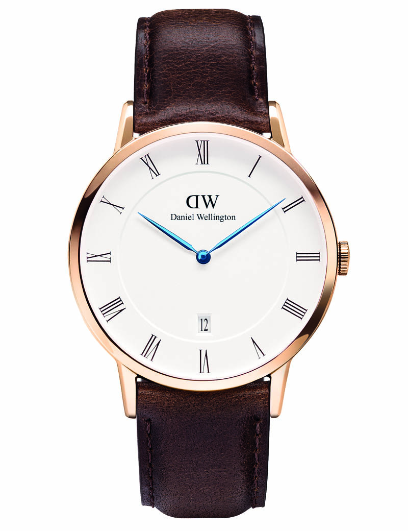 Image of   DANIEL WELLINGTON DAPPER BRISTOL UR - ROSA 38 MM