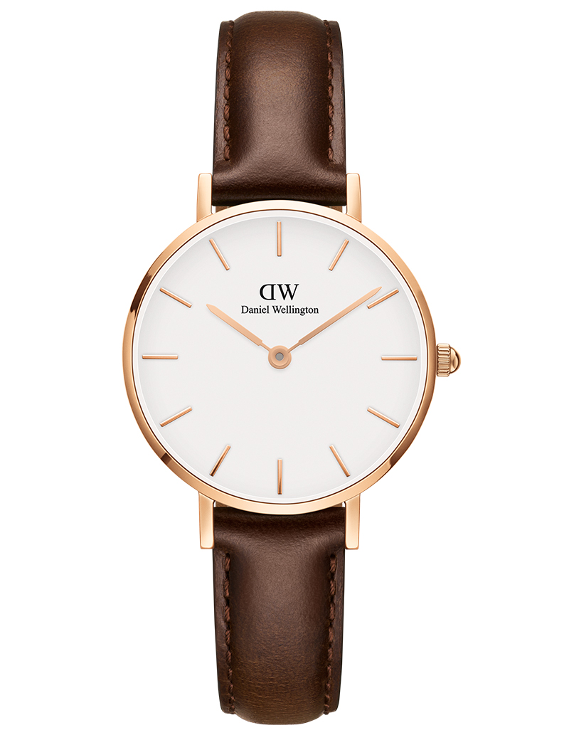 Image of   DANIEL WELLINGTON CLASSIC PETITE BRISTOL DAMEUR ROSE - 28 MM