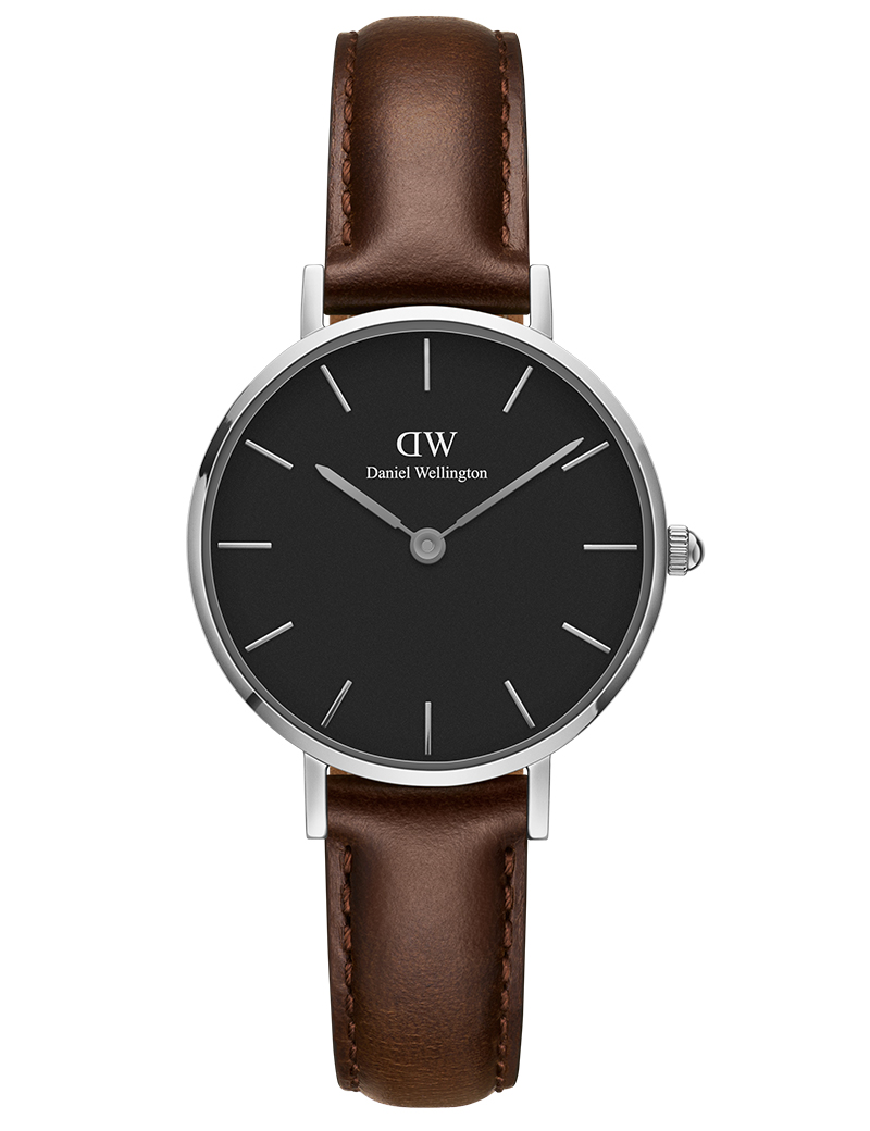 Image of   DANIEL WELLINGTON CLASSIC PETITE BLACK BRISTOL DAMEUR STÅL - 28 MM