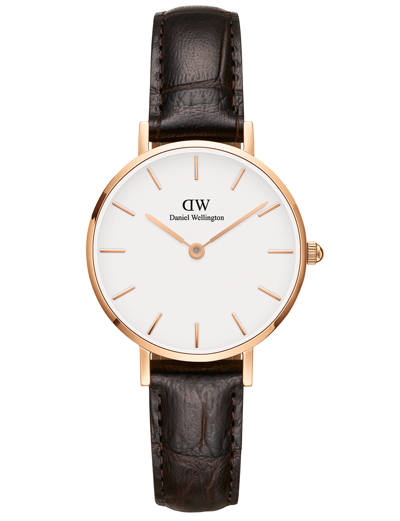 Image of   DANIEL WELLINGTON CLASSIC PETITE YORK DAMEUR ROSA - 28 MM