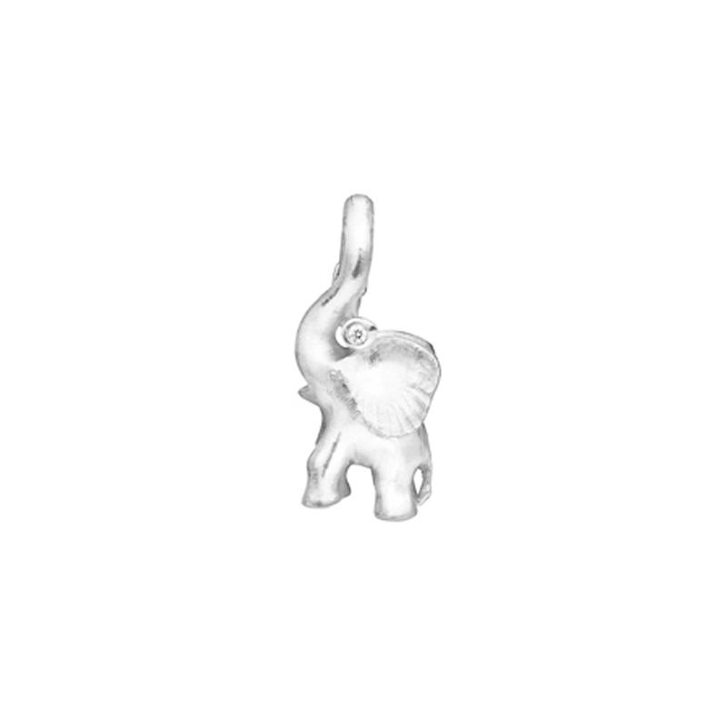 Ole Lynggaard Cirkus Elephant Charm i hvidguld med 1 brillant (opluk)