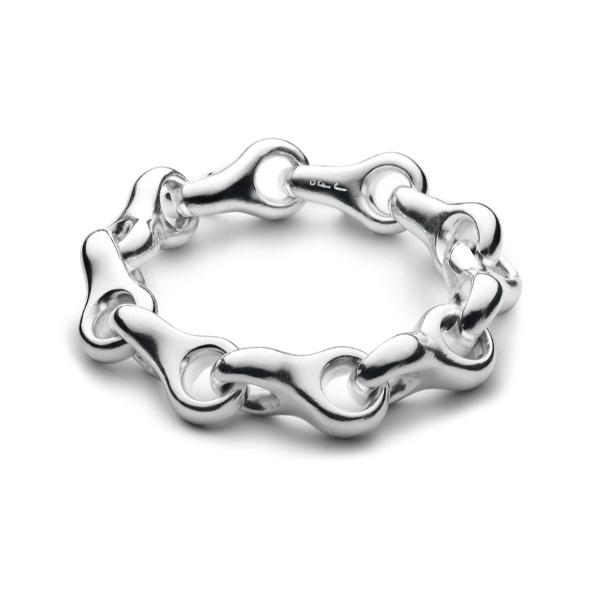 Ole Lynggaard Giga lænke Sterling sølv - blank (str. M-21 cm)